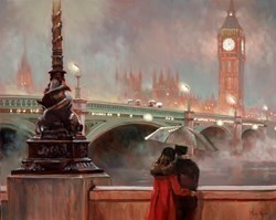 Looking at Big Ben by Mark Spain -  sized 30x24 inches. Available from Whitewall Galleries